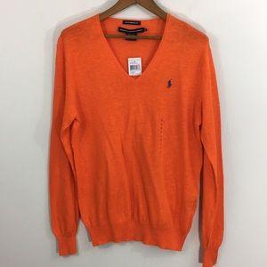 NWT Ralph Lauren Sport boyfriend sweater - orange